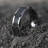 Meteorite Ring with Opal Moonstone Diamonds, Glow Ring for Men, Wedding & Engagement Ring, Mens Diamond Ring Handmade