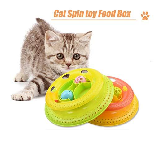 Huaaag Cat Tocadiscos, Caja De Alimentos para Gatos, Pet Cat