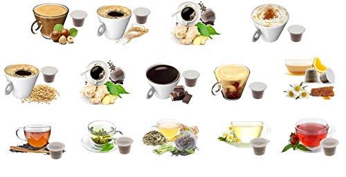 KIT ASSAGGIO 130 CAPSULE SOLUBILI & TE' & TISANE Lovespresso NESPRESSO® - KIT ASSAGGIO 130 Capsule Compatibili Nespresso*