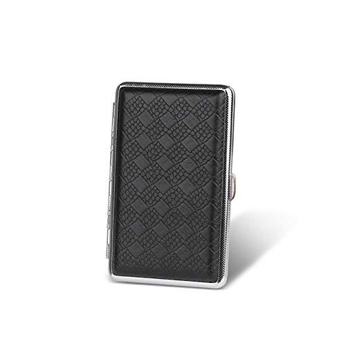 BDWY 14 Cartuchos de Metal de Cigarrillos Titular Caso de Cigarrillos de Acero Inoxidable Caja Portable,A,10.8X6.9X1.7CM