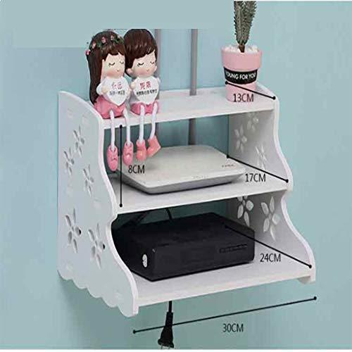 005 Punch Gratuito TV de Pared Dormitorio Sala de Estar Decoración de Pared Sala de Estar TV por Cable Estante de Almacenamiento Estante (Size : Style One)