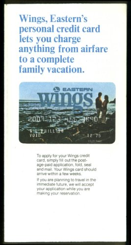 Eastern Air Lines WINGS Personal Credit Card application 1975