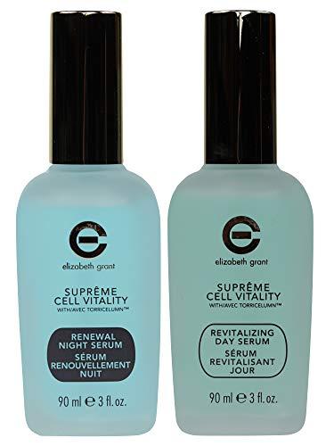 Elizabeth Grant Supreme Cell Renewal Night Serum, 90ml + Revitalizing Day Serum 90ml