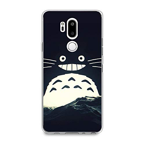 YAOYAN Soft Clear Case Silicone Shockproof Coque for LG G7 ThinQ-Neighbor-Totoro Simple 9