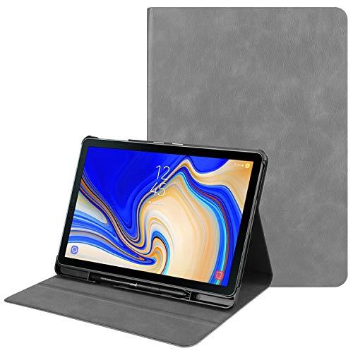 Case for Samsung Galaxy Tab S4 10.5 - PU Leather Folio Book Case - Grey
