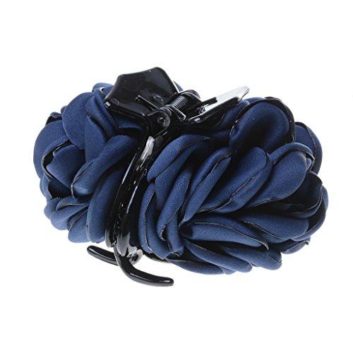 Haarspange - Haarclip - Haargreifer - Blumen Form - Haarklammer - Haarklemme - Haarschmuck - Dunkelblau