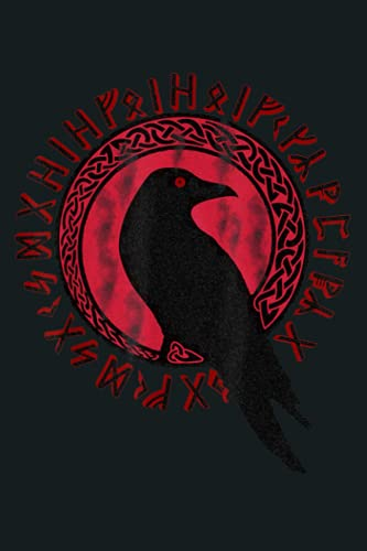Odin Ravens Huginn Muninn VEGVISIR Vikings Myth: Notebook Planner - 6x9 inch Daily Planner Journal, To Do List Notebook, Daily Organizer, 114 Pages
