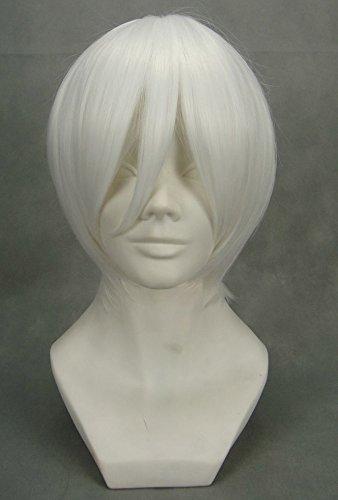 JapanAttitude Perruque Blanche 32cm, Cosplay Ichimaru Bleach