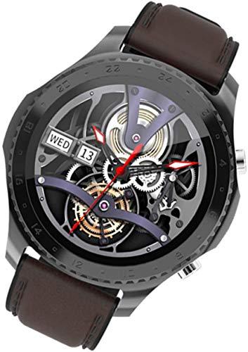 JIAJBG Clásico Reloj Bluetooth Inteligente de Llamadas Monitoreo Del Ritmo Cardíaco Y la Presión Arterial Modo Múltiple Deportes Podómetro Ip67 Smartwatch, Negro el uso diario
