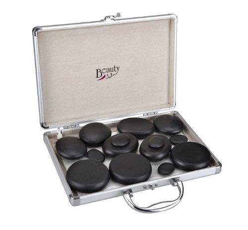 Jata HS70B - Set terapéutico para masaje corporal, 14 piedras de diferentes formas y tamaños