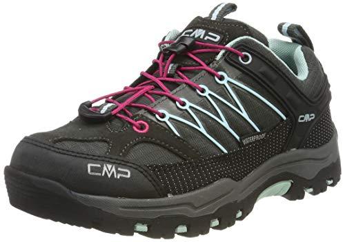 CMP Unisex Kids Rigel Low Shoe Wp Trekking- & Wanderhalbschuhe, Braun (Arabica-Sky Light 76bn), 36 EU