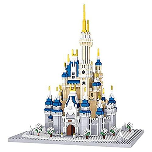 Modelo De Construcción 3D Castillo De Nieve, Micropartículas Ensambladas Edificio Infantil Educativo Regalos De Bricolaje Oficina Sala De Estar Manualidades Decoración