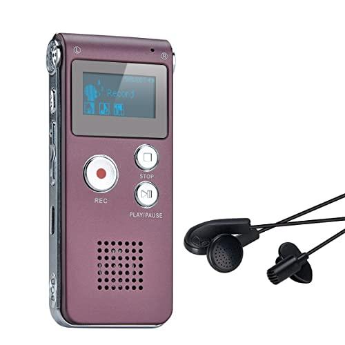 Digitales Diktiergerät,COVVY 8GB Audio Aufnahmegerät,Digitaler Voice Recorder mit Spracherkennung für Interview,Vorlesung,Unterricht,Meeting und Vorträge