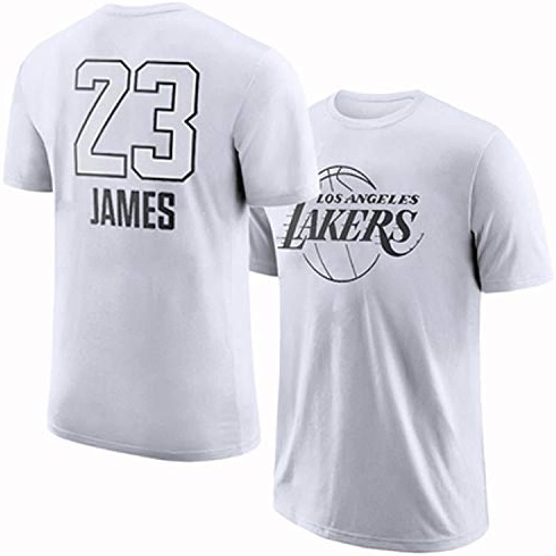 FLYSXP Basketball Short Sleeve TShirt AllStar Lakers James Cotton Sportswear Top Training Suit TShirt (Size   M)