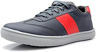 Primo Cleats Men's Grey Red Outdoor Casual + Partywear Shoes-8UK