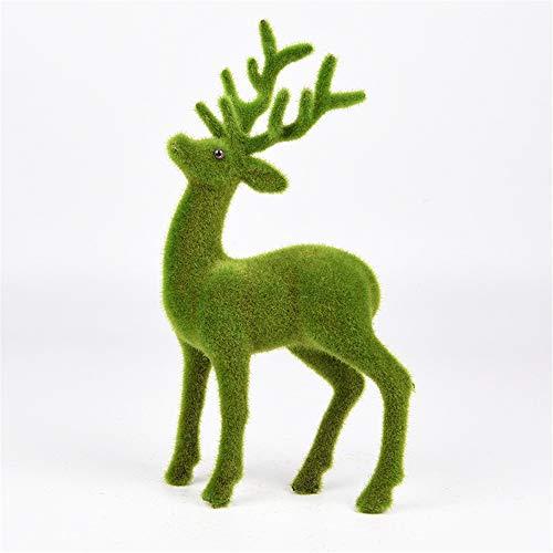 WuMei101 Flocking Animals, Imitating Deer, Decorazione di Nozze, Design Decorativo Morbido, Puntelli di tiro, Decorazione della Finestra, Decorazione della casa (Color : Raise Your Head)