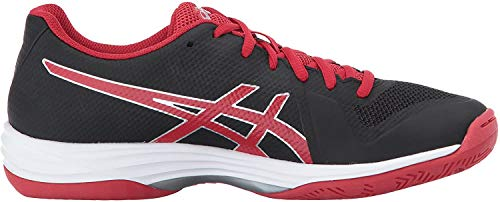 ASICS Women's Gel-Tactic 2 Volleyball Shoe, Black/Prime Red/Silver, 8.5 Medium US