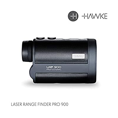 Hawke Sport Optics 6x25 Pro 900 Laser Range Finder, BK-7 Prism, Fully Multi-Coated, Waterproof, Fogproof, 2952', 984 Yard Distance from Hawke