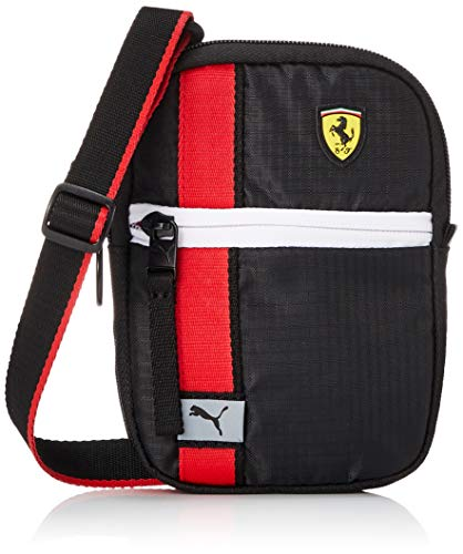 PUMA Ferrari Race Mini Portable Bandolera, Adultos Unisex, 2 (Negro), Talla Única