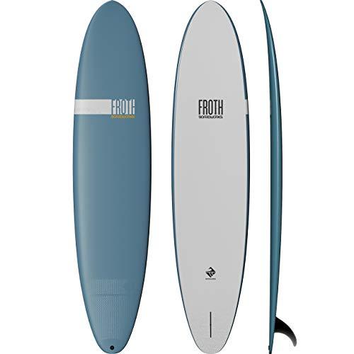Boardworks Froth! | Soft Top Surfboard | Single Fin | Longboard Surf Board | 9' | Sky