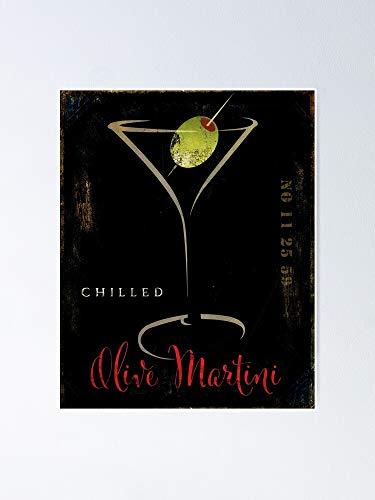 Poster con motivo Martini d'oliva AZSTEEL 11,7 x 16,5 cm