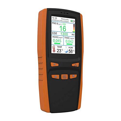 CO2-Messgerät - Kohlendioxid Detektor CO2 Meter Tester für Luftqualitäts Detektor Monitor Luft Tester Innen, ppm CO2 pm 2,5 multifunktions Monitor