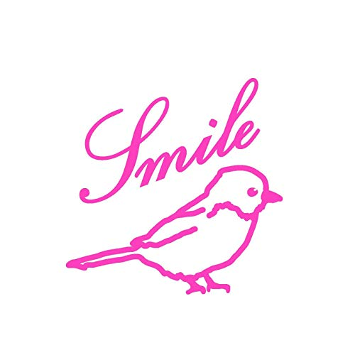 Mimilou Mini Sticker Rose Fluo Smile Oiseau