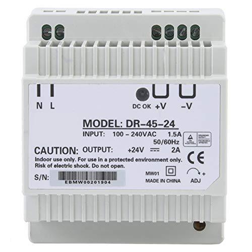 DR-45-24 Alimentatore a commutazione CA CC a uscita singola 45 W Alimentatore su guida DIN monofase 24 V per apparecchiature di illuminazione