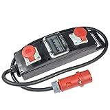 as – Schwabe Stromverteiler Vollgummi-Steckdosenleiste S10+ – Baustellen-Leiste mit 5-poligem CEE-Stecker 400 V