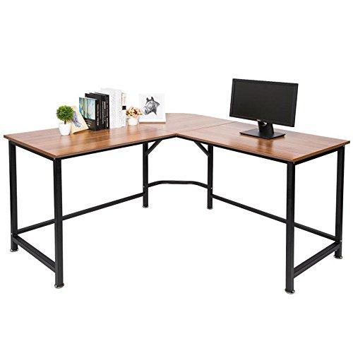 TOPSKY L-Shaped Desk Corner Computer Des...