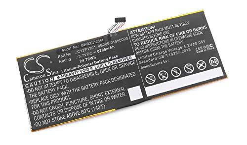 vhbw batería reemplaza ASUS 0B200-01580000, C12P1301 para Tablet (6700mAh, 3,7V, polímero de Litio)