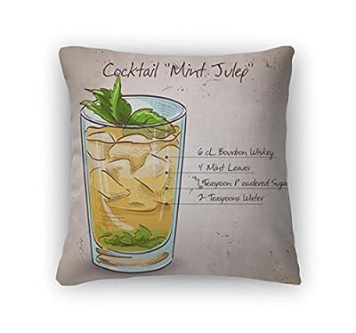 Gear New Throw Pillow Accent Decor, Cocktail Mint Julep, 5676709GN