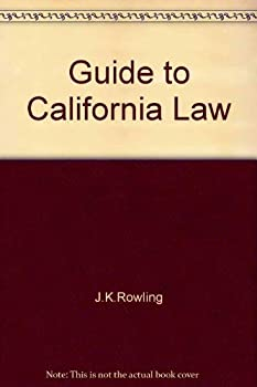 Paperback Guide to California Law Book