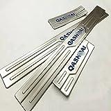 SXFYZCY Protector de umbral de Puerta Lateral de Placa de Desgaste de umbral de Coche Accesorios de Coche antidesgaste de Acero Inoxidable para, 4 unids/Set