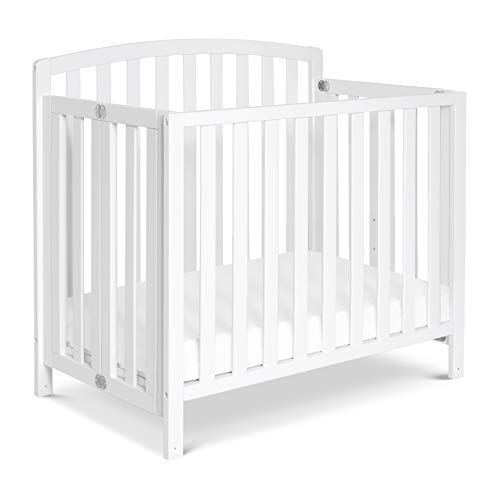 DaVinci Dylan Folding Portable 3in1 Mini Crib and Twin Bed in White | Greenguard Gold Certified