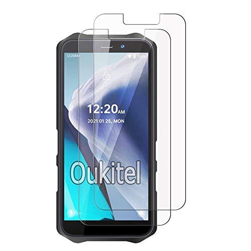 Protetor de tela ZMONE de vidro temperado para Oukitel WP12 [2 unidades], rigidez de 9H, alta definição, transparente, resistente a arranhões, sem bolhas, antiimpressões digitais