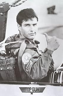 Top Gun Movie Tom Cruise Thumbs Up Poster Print