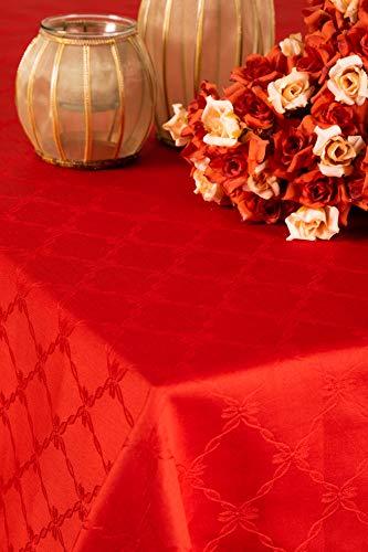 ESSE HOME - Tovaglia Copritavolo– Tovaglia con tovaglioli Rettangolare Fiandra Puro Cotone - Ponza (180x270, Servizio)