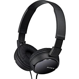 Sony MDR-ZX110AP Extra Bass Wired Headphones with Mic, Smartphone Headset for iPhone & Android with in-Line Remote & Microphone, Neodymium Magnets & 30mm Drivers, Black (Renewed)