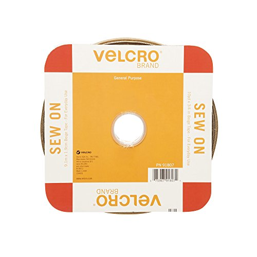 VELCRO Brand For Fabrics | Sew On Fabric Tape for Alterations and Hemming | No Ironing or Gluing | Ideal Substitute for Snaps and Buttons | Tape, 36in x 2in, White