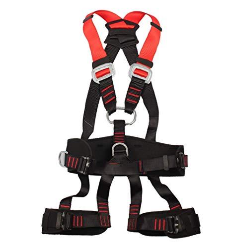 ZWWZ Absturzsicherung Set Aerial Work Sicherheitsgurt Körper Outdoor-Klettern Wandern Gürtel Feuer Rettungsausrüstung Versicherung Sicherungsseil Set HAIKE