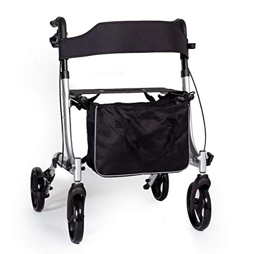 EC X FOLD Lightweight folding rollator wheeled walker walking frame with...