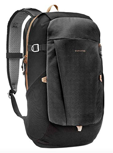 NEW CONFORT BACKPACK 20L BLACK, 2 zipped pockets, 2 compartments. 2 bottle holder and 2 foam pads. Quechua
