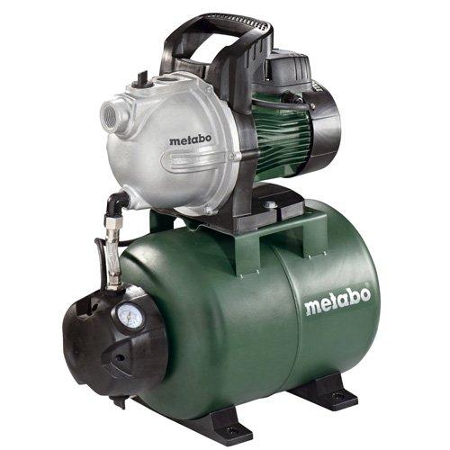 Metabo 60097100 Hauswasserwerk HWW 4000/25 G 1100 W, 24 l, max. Fördermenge 4000 l/h, max. Förderhöhe 46 m, max. Druck 4.6 bar, Rückschlagventil, Gewindedichtband
