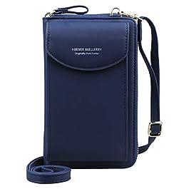 Jangostor Femmes Portefeuille Sac À Bandoulière En Cuir Porte Monnaie Téléphone Portable Mini Pochette Porte Carte…