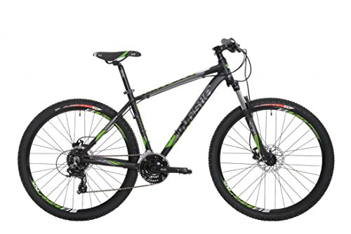 27,5' Mountainbike Whistle Miwok 1504 24s MTB, Farbe:schwarz/grün;Rahmengrösse:18 Zoll