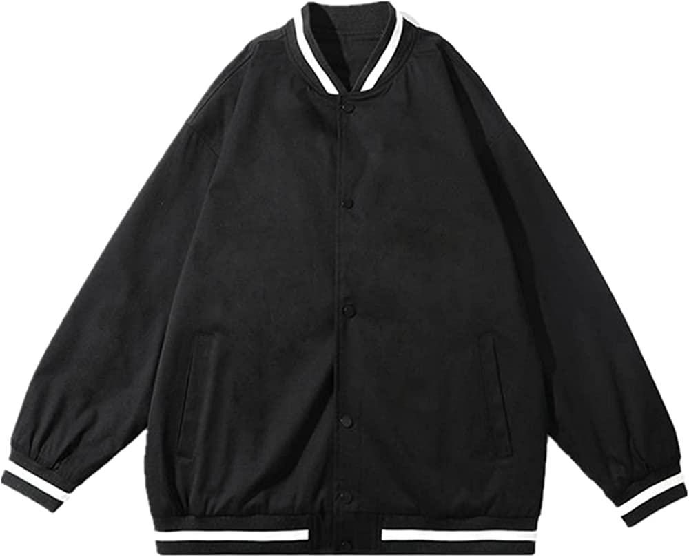 Street Bomber Loose Hop Autumn Single Breasted Bomber Streetwear Coats
