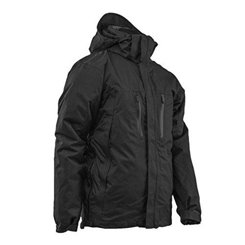 Tru-spec 2497007 H2O Proof Element 3 en 1 pour homme, XXL Regular, Noir/noir Veste intérieure