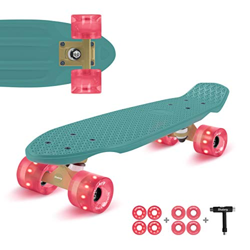 Skatery Mini Cruiser by fun pro (grün pink)
