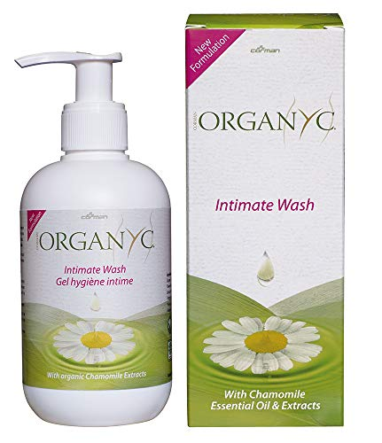 Organyc Feminine Intimate Wash for Sensitive Skin, Free from Chlorine, Parabens, SLS/SLES, and Synthetic Perfumes 8.5 Fluid Ounce